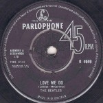 Love Me Do single label