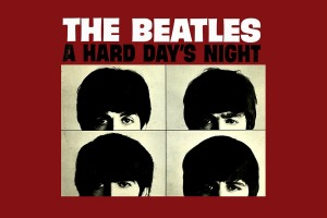 A Hard day's night movie poster inspired desktop wallpaper