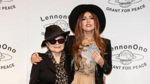 Yoko Ono reward Lady Gaga with LennonOno Grant for Peace