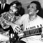 Ravi Shankar with George Harrison