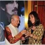 Ravi Shankar with Olivia Harrison