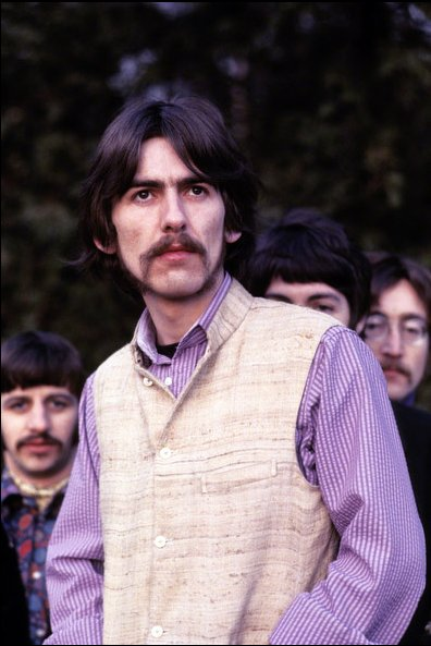 George Harrison Poses With The Beatles During A Photo Shoot At Ringos House For Life Magazine