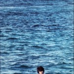 "George Harrison during the filming of ""Help!"" in the Bahamas in 1965"