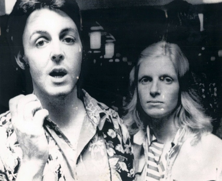 Paul McCartney With Linda Gothenburg Sweden 11 August 1972