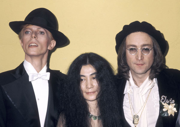 John Lennon David Bowie with Yoko Ono