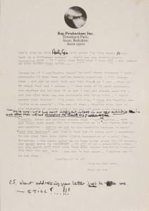 A Letter From John Lennon to Paul McCartney