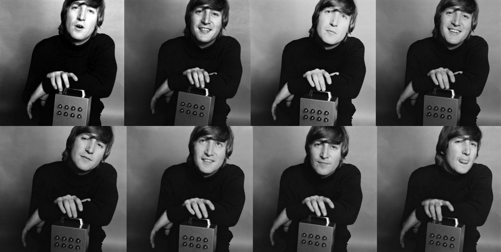 John Lennon with Alex Mardas' Nothing Box