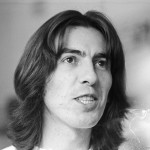 George Harrison pictured at his home in Esher, Surrey, 6th April 1969