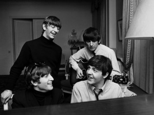 The Beatles composing
