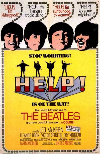 beatles help1 movie poster