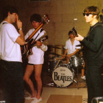 The Beatles rehearsing at their Miami hotel, 1964