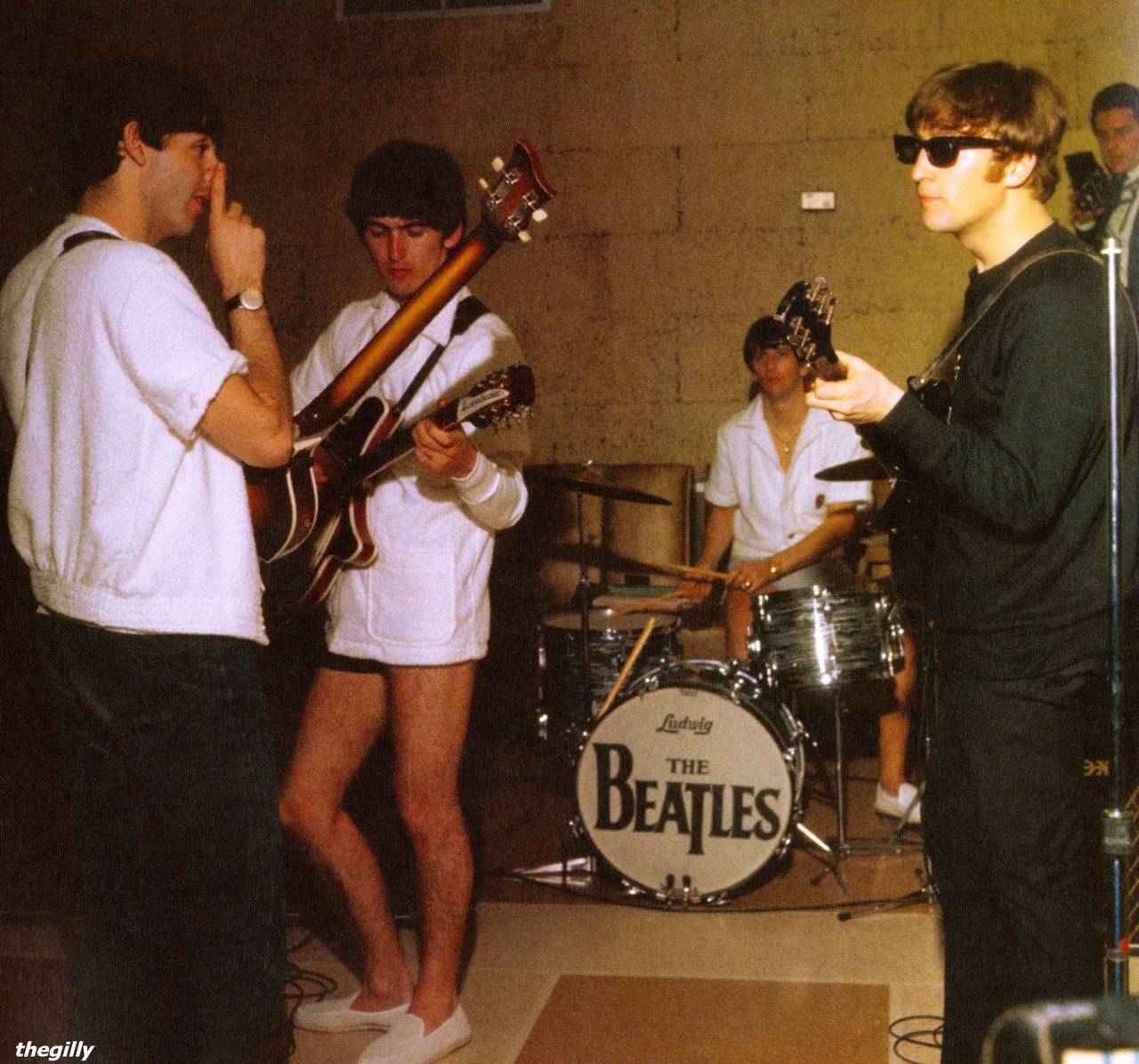The Beatles Rehearsing At Their Miami Hotel 1964