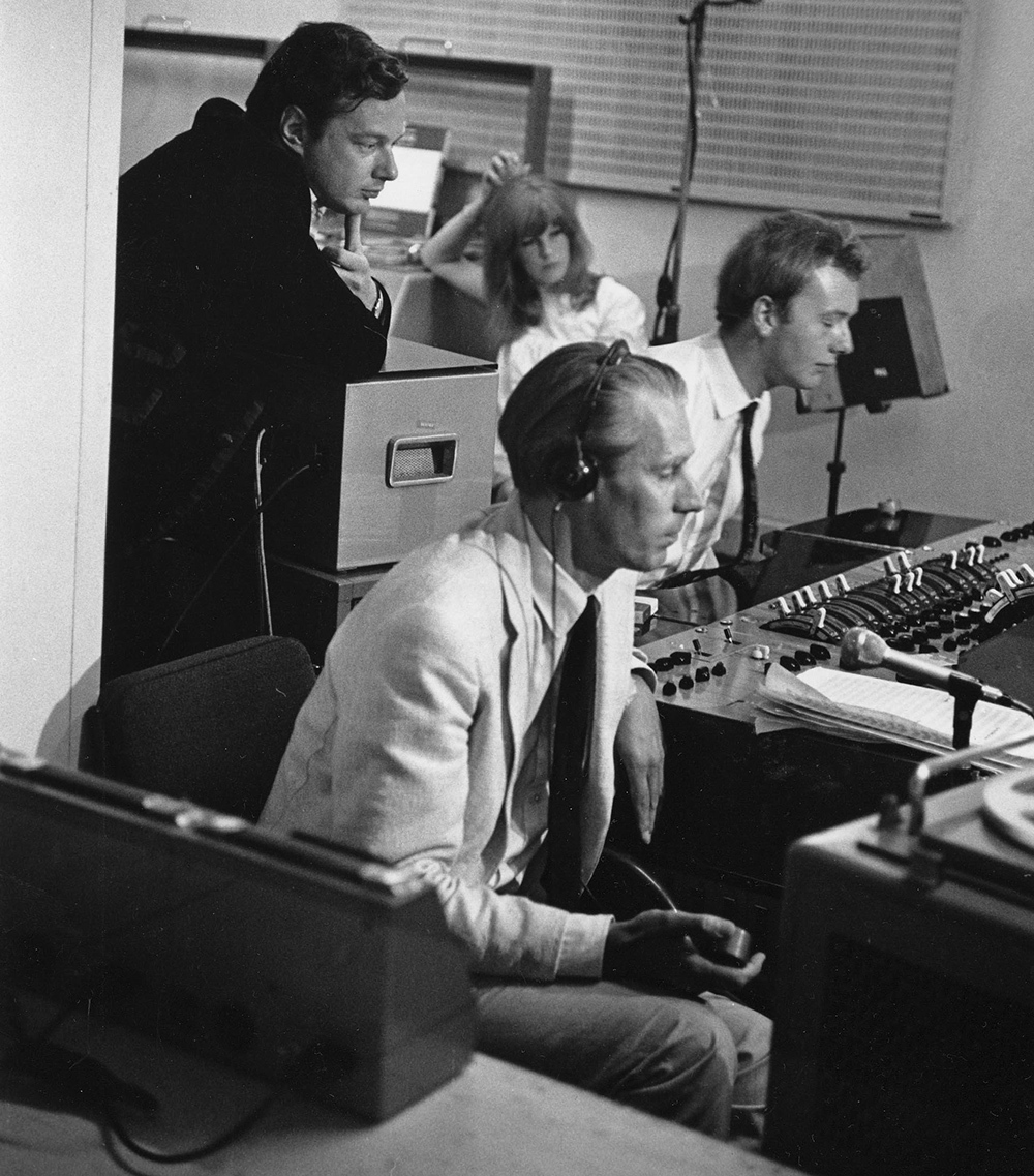 Brian Epstein, George Martin and Geoff Emerick
