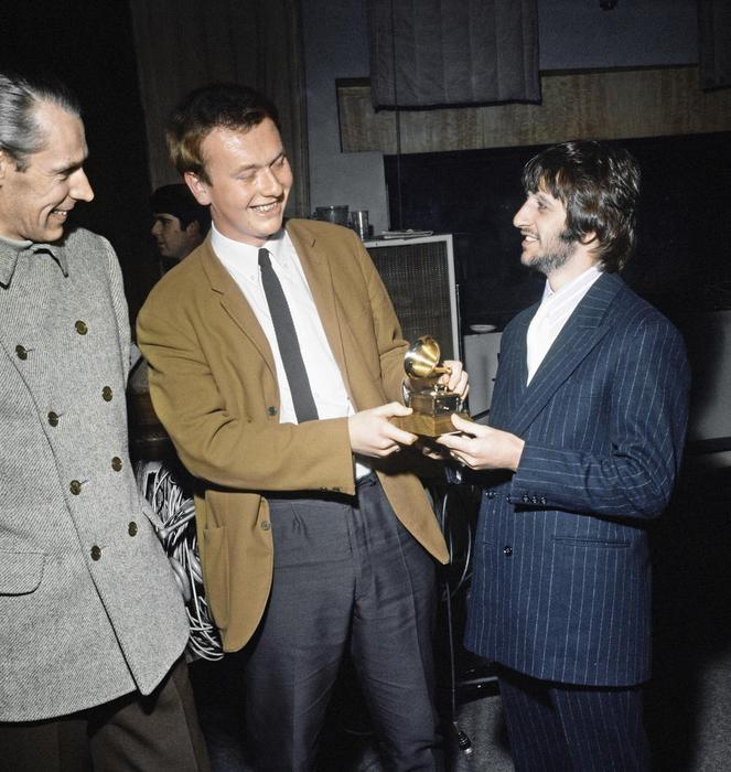 Geoff Emerick with Ringo Starr