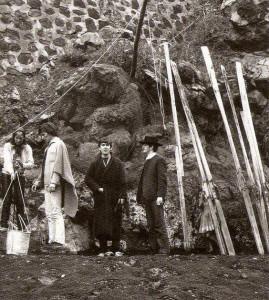 Astrid Kircherr, Klaus Voormann, George Harrison, Ringo Starr in Tenerife, Spain, 1963