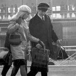 Cynthia and John at Heathrow Airport