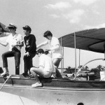 The Beatles in Miami Florida, United States of America February 1964. The Beatles on the deck of a yacht in which they recently went on a 5 hour trip around Miami