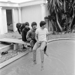 The Beatles poolside in Bel Air in California during their tour of the USA, August 1964