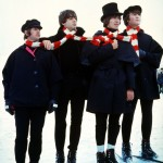 The Beatles with a big scarf