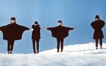 The Beatles skiing