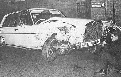 George Harrison car accident in 1972 | Beatles Archive