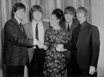 Binny Lum with The Beatles at the Southern Cross Hotel, Melbourne on June 14th 1964