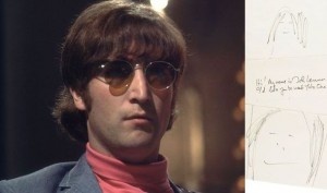 Self portrait of Beatle John Lennon 1